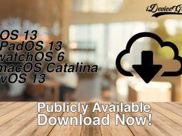 iOS 13 iPadOS 13 watchOS 6 macOS Catalina